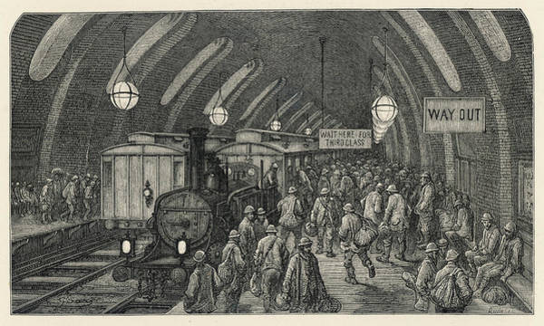 The Specials Drawing - The Scene At Baker Street Underground by Mary Evans Picture Library