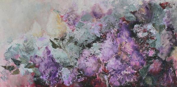 Acrilic Painting - The Scent Of Lilac by Cornelia Margan