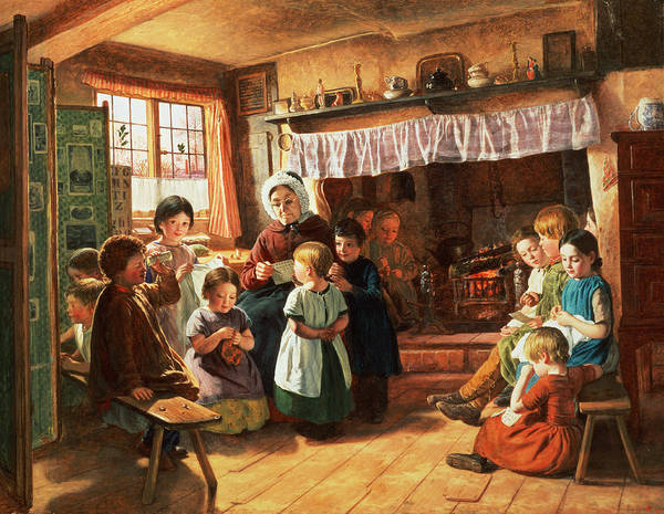 Classroom Painting - The School Room by Alfred Rankley