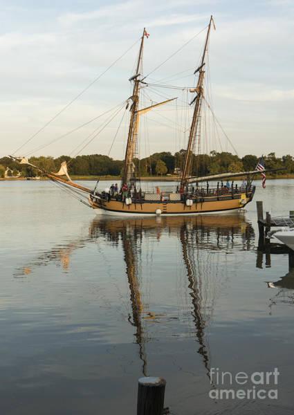 Photograph - The Schooner Sultana At Chestertown Maryland by William Kuta