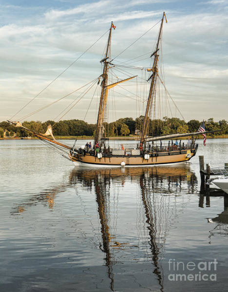 Wall Art - Photograph - The Schooner Sultana On The Chester River At Chestertown Maryland by William Kuta