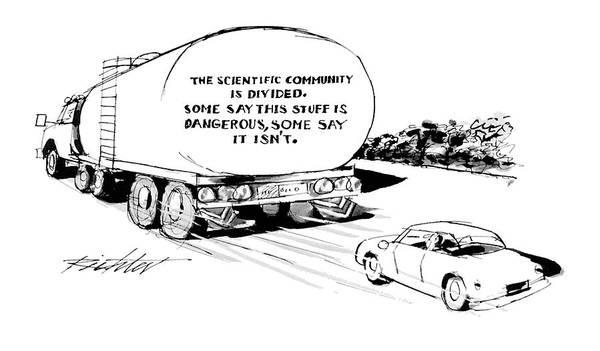 Highway Drawing - 'the Scientific Community Is Divided.  Some Say by Mischa Richter
