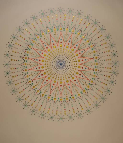 Sacred Geometry Drawing - The Scintillation Of Sound Healing by Mark Golding