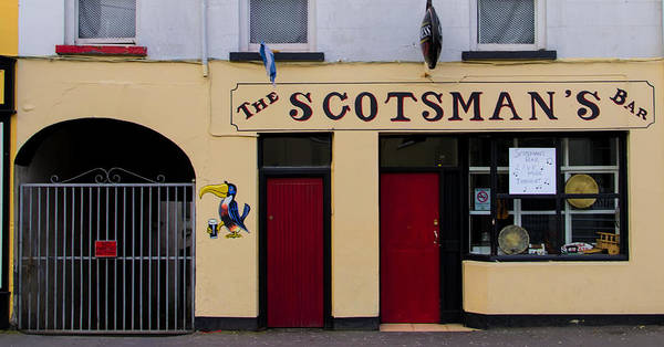 Donegal Digital Art - The Scottsmans Bar - Donegal Ireland by Bill Cannon