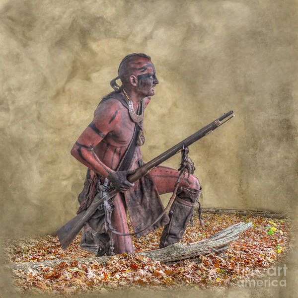 Musket Digital Art - The Scout Following The Trail by Randy Steele