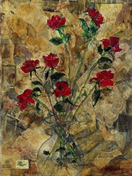 Doily Painting - The Scrapbook by Elaine Elliott