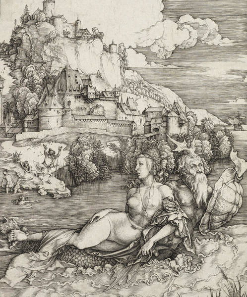 Riverbank Drawing - The Sea Monster by Albrecht Durer or Duerer