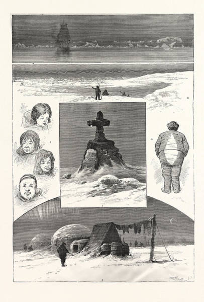 Early American History Drawing - The Search For Sir John Franklin, 1. Nearing Ice-pack. 2 by American School