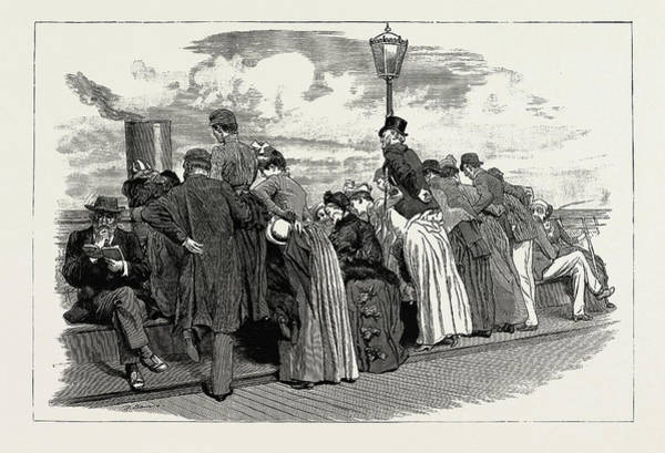 Brighton Pier Drawing - The Season At Brighton, Uk, 1889 The Boat Comes by Litz Collection