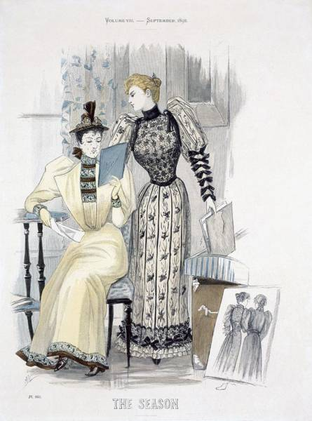 Shops Drawing - The Season, Fashion Plate For The by English School