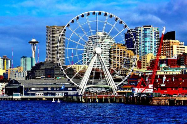 Wall Art - Photograph - The Seattle Wheel by Benjamin Yeager