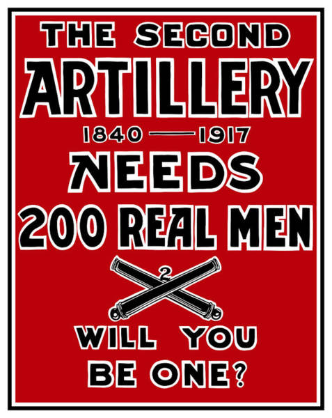 Wwi Wall Art - Painting - The Second Artillery Needs 200 Real Men by War Is Hell Store