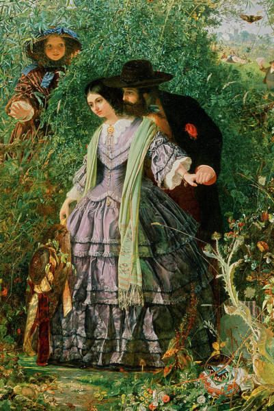 Tapestry Painting - The Secret by William Henry Fisk