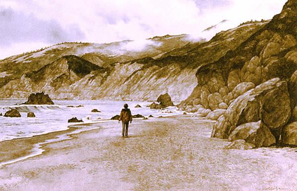 Sand Creek Painting - The Seeker by Tom Wooldridge