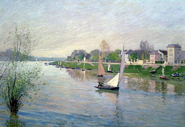 River Seine Painting - The Seine At Argenteuil by Alfred Sisley