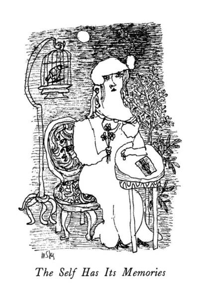 Memory Drawing - The Self Has Its Memories by William Steig