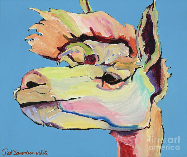 Alpaca Painting - The Sentinel by Pat Saunders-White