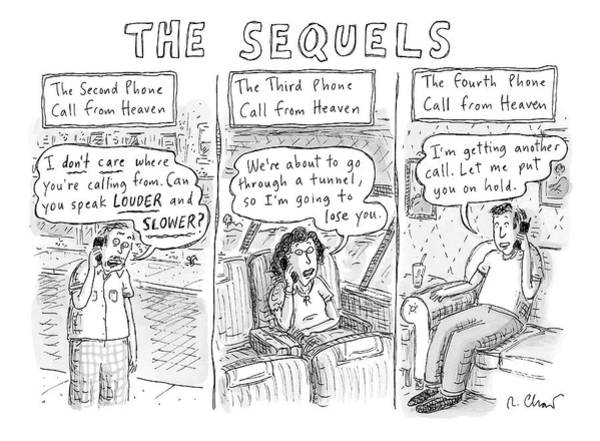 Service Drawing - The Sequels 3 Panels Parodying A Book Called by Roz Chast