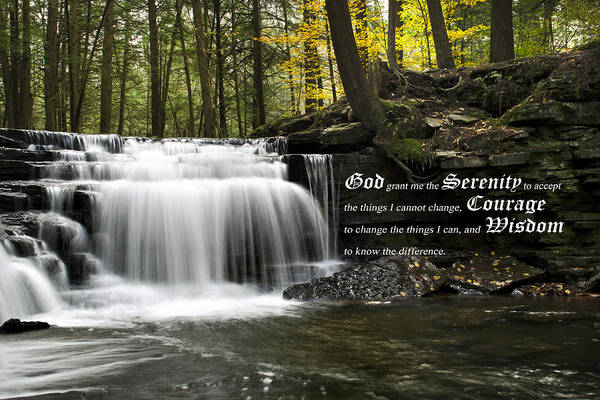 Inspirational Quote Photograph - The Serenity Prayer by Christina Rollo