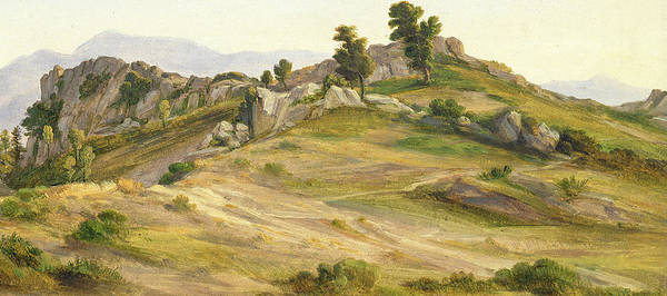 Outcrop Painting - The Serpentara At Olevano by Joachim Faber