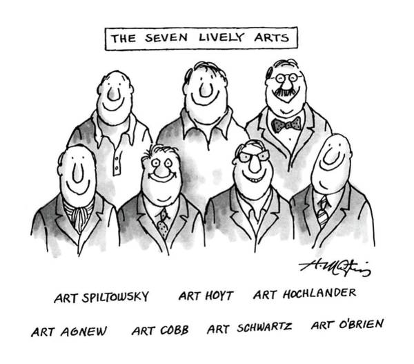 June 8th Drawing - The Seven Lively Arts by Henry Martin