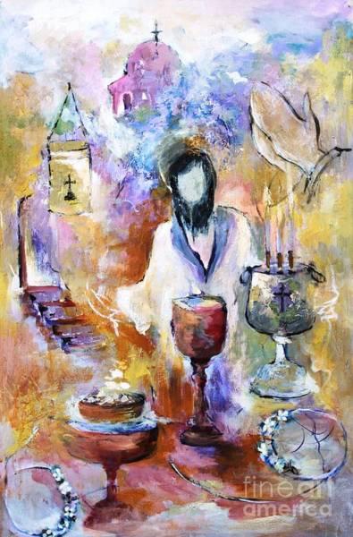 Spiritual Mixed Media - The Seven Sacrements by Mary Spyridon Thompson