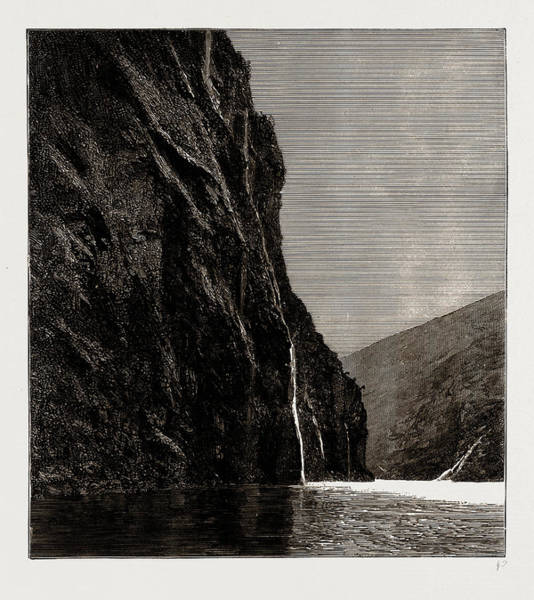 Fjord Drawing - The Seven Sisters, Geiranger Fjord, Norway by Litz Collection