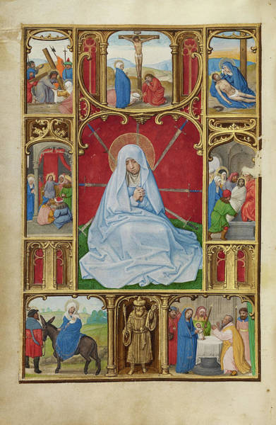 Wall Art - Painting - The Seven Sorrows Of The Virgin Simon Bening, Flemish by Litz Collection