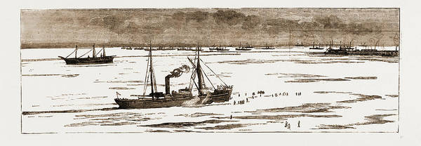 Ukraine Drawing - The Severe Winter In The Black Sea The Port Of Odessa by Litz Collection