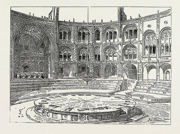 Wall Art - Drawing - The Shahs Theatre In The Palace, Teheran by Litz Collection