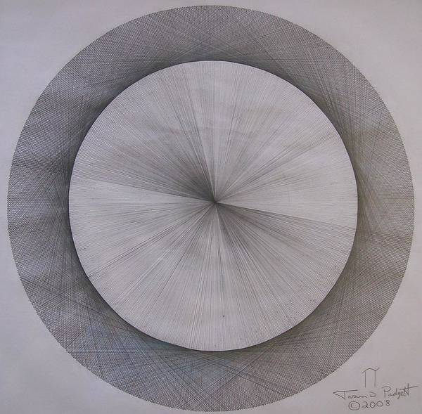 Einstein Wall Art - Drawing - The Shape Of Pi by Jason Padgett