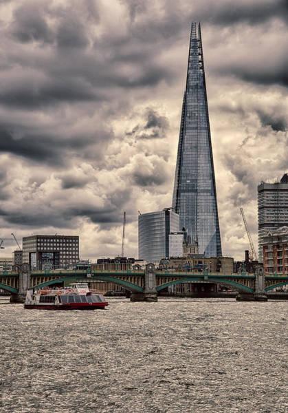 Railway Station Photograph - The Shard - London by Nigel Jones