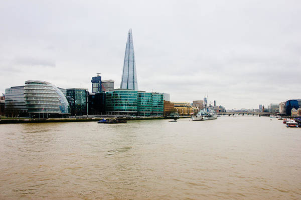 Wall Art - Photograph - The Shard And Thames by Pati Photography