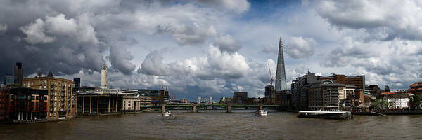 Photograph - The Shard And The Thames At Southwark by Gary Eason