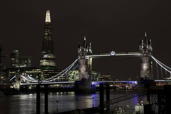 Wall Art - Photograph - The Shard And Tower Bridge by David Pyatt