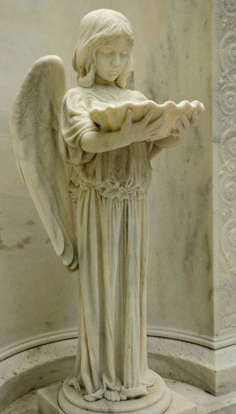 Photograph - The Shell Girl Marble Angel by Bradford Martin