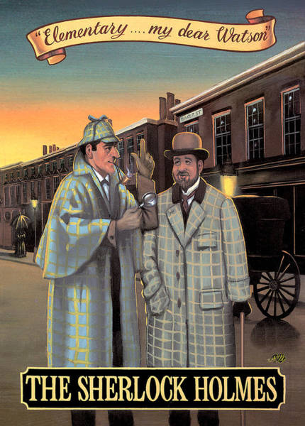 Tavern Painting - The Sherlock Holmes by MGL Meiklejohn Graphics Licensing