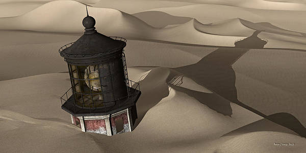 Buried Painting - The Shifting Sands Of Time by Peter J Sucy