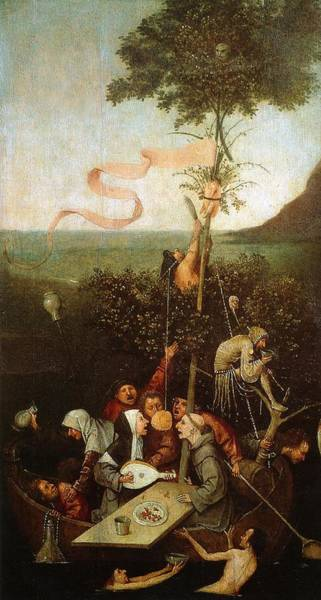 Moral Wall Art - Painting - The Ship Of Fools by Hieronymus Bosch