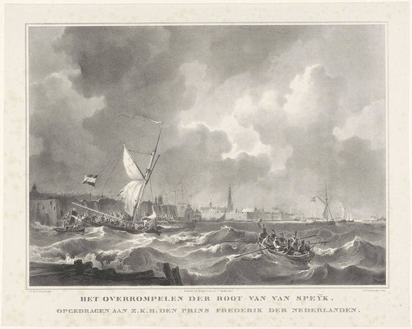 Wall Art - Drawing - The Ship Of Jan Van Speijk, 1831. Gijsbertus Craeyvanger by Gijsbertus Craeyvanger And Desguerrois & Co.