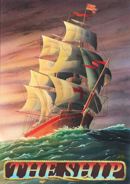 Tavern Painting - The Ship by MGL Meiklejohn Graphics Licensing