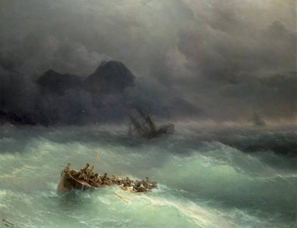 Wall Art - Painting - The Shipwreck by Ivan Konstantinovich Aivazovsky