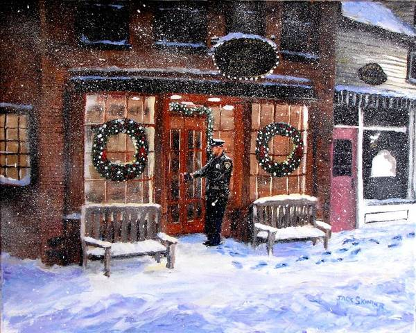 Wall Art - Painting - The Shiver And Shake Watch On Christmas Eve by Jack Skinner