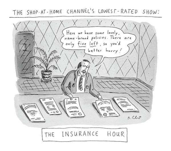 Trends Drawing - The Shop-at-home Channel's Lowest-rated Show: The by Roz Chast