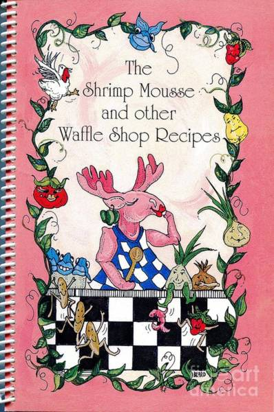 The Shrimp Moose And Other Waffle Shop Recipes Cookbook Calvary Church Memphis Tn Art Print