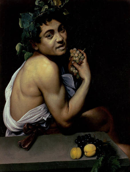 Sick Wall Art - Painting - The Sick Bacchus, 1591  by Michelangelo Merisi da Caravaggio