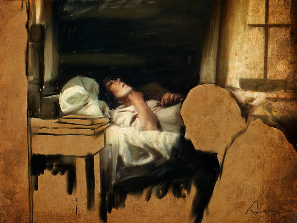 Sick Wall Art - Painting - The Sickbed by H James Hoff
