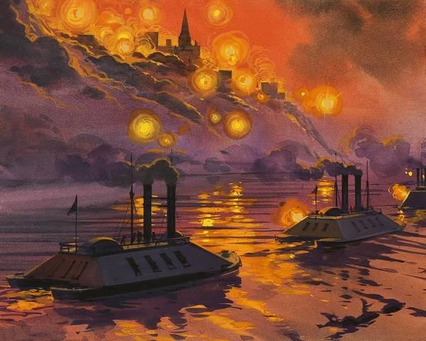 Warfare Drawing - The Siege Of Vicksburg by Angus McBride