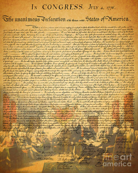 Photograph - The Signing Of The United States Declaration Of Independence by Wingsdomain Art and Photography