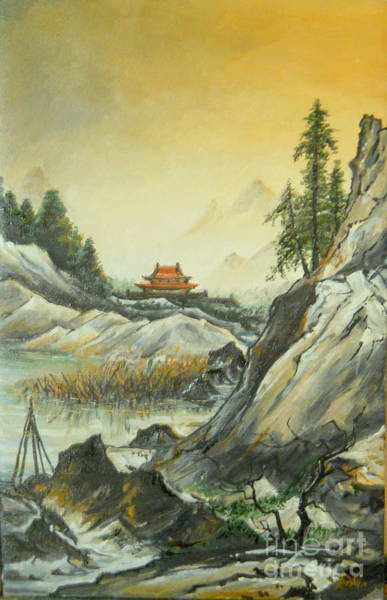 Painting - The Silence In The Mountains by Sorin Apostolescu